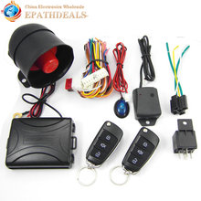 CA703-8118 One Way Auto Car Alarm Systems & Central Door Locking Security Key with Remote Control Siren Sensor for Toyota