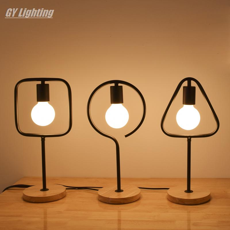 Modern minimalist desk lamp creative art bedroom bedside table lamps LED design desk lamp abajur lamparas de mesa modern led table lamp lustre geometric diamonds table lamps for bedroom bedside lampshade abajur lampara de mesa art luminaria