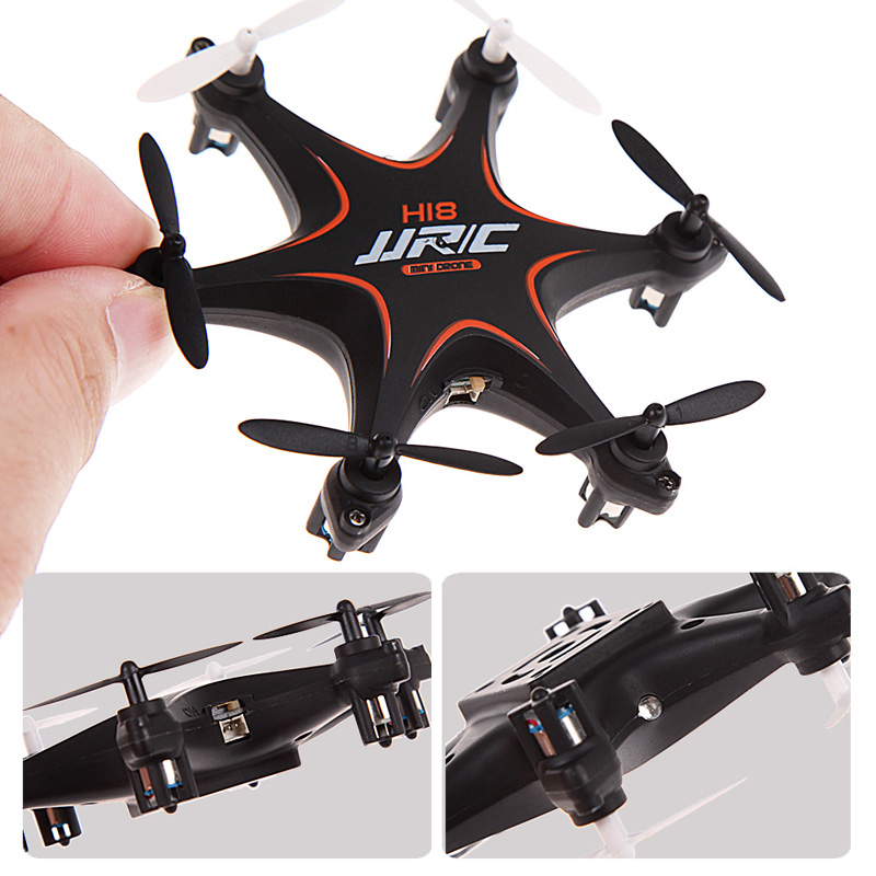 Mini Drone JJRC H18 2.4GHz Radio Control 4CH 6-Axis Gyro 3D Rolling Headless Mode RC Quadcopter for Outdoor and Indoor brilink bh08 mini 2 4g radio control 4 ch quadcopter r c aircraft 3d tumbling w 6 axis gyro orange