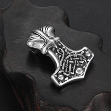 Stainless Steel Viking Thor Hammer Pendant Hole 6mm for Necklace DIY Accessories Findings Jewelry Making Men Axe Charm Supplies