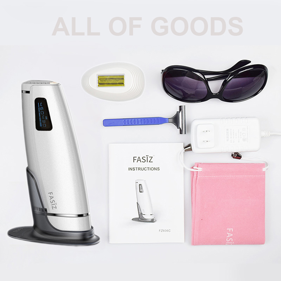 Fasiz 2in1 Photoepilator IPL Depilator Female Electricepilator Permanent Painless Hair Removal Laser Epilator