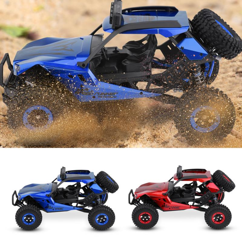 1:12 2.4G Remote Control Four-Wheel Drive Car RC Model Vehicle Toy With EU Charger 540 motors provide 45km/h high running speed