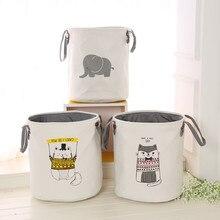 Besar Kalis Air Linen Debu Hamper Kotor Pakaian Penyusun Penyusun Barrel Toy Basket Sundries Bag Kartun Fesyen Kanak-kanak