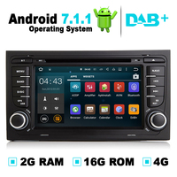 2G RAM Android 7.1 Car GPS Navigation System DVD Player Auto Radio Audio Video Stereo Media For Audi A4 Support DVB T OBD2 DAB+