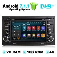 2G Ram Android 7.1 sistema de navegación del GPS del coche reproductor de DVD auto Radios audio video Stereo multimedia para Audi A4 apoyo dvb-t obd2 DAB +