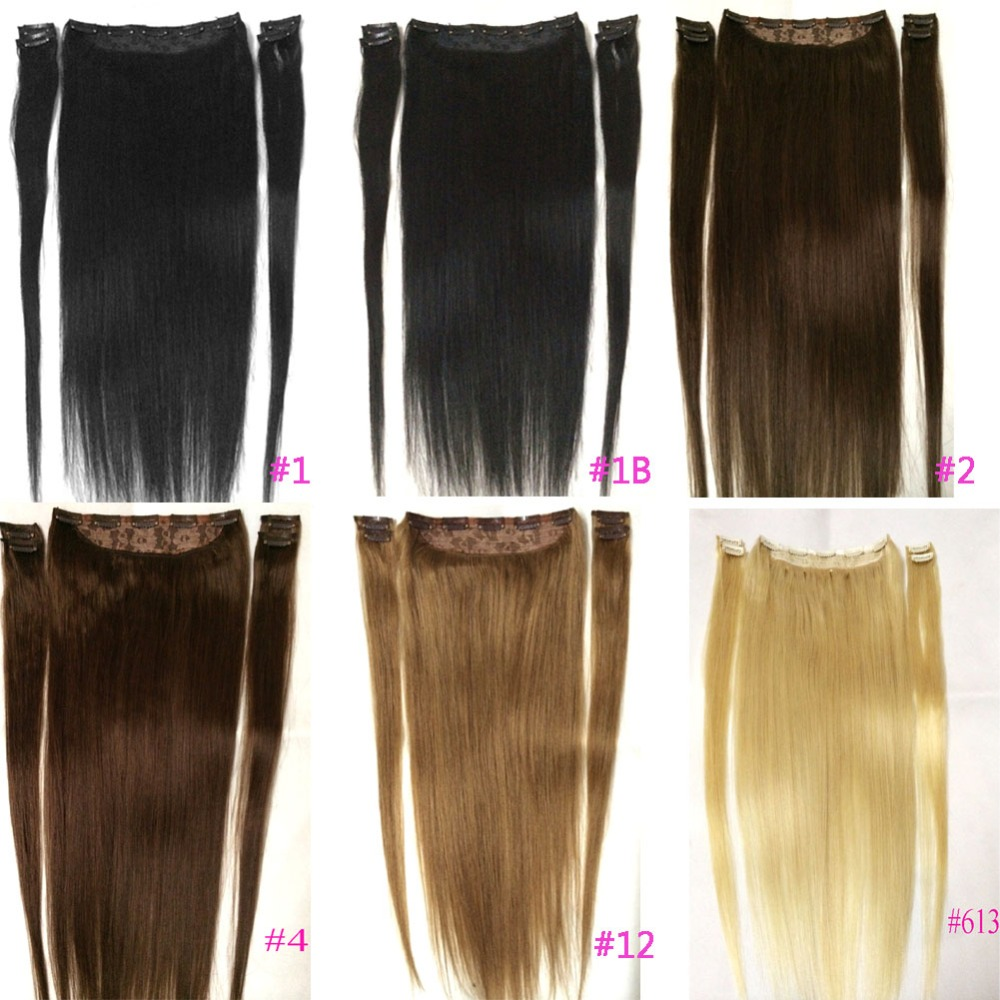 "ZZHAIR 100g-200g 16""-28"" Machine Made Remy Hair 5 pcs Set 9 Clips-in 100% Human Hair Extensions Natural Straight Hair(China)"