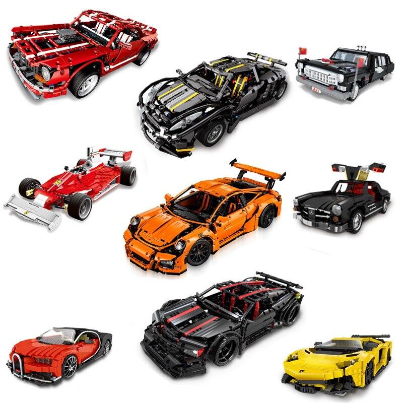 9 Styles Technic série Super-voiture modèle briques compatibles Legoings voitures de course blocs de construction créateurs MOC jouets enfants cadeaux