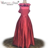 VARBOO_ELSA 아라비아 디자인 appliqued 댄스 파티 드레스 긴 빨간 이브닝 드레스 2017 짧은 전면 긴 위로 드레스 이브닝