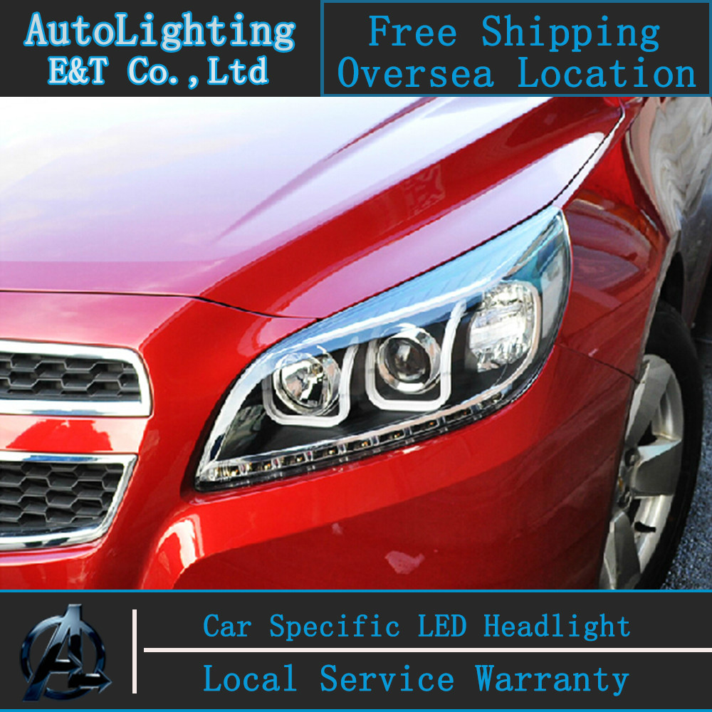 Car styling led head lamp for chevrolet malibu headlights 2011 2014 drl led headlight h7