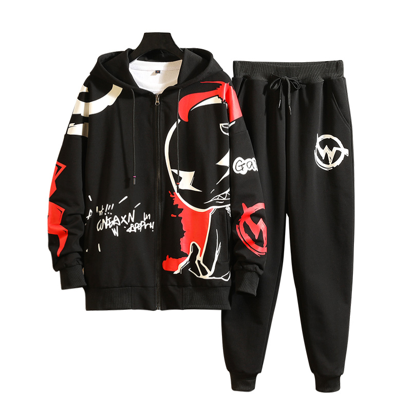 M-3XL 2019 Spring Summer Mens Tracksuits Fashion Men Track Suit With Pants Harem Jogging Sweat Men Joggers Suit Sets