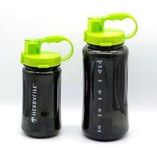 1L/2L Black Oversized Water Bottle 1000ml/2000ml Fashion Portable Herbalife Nutrition Custom Shake Sports Water Bottle