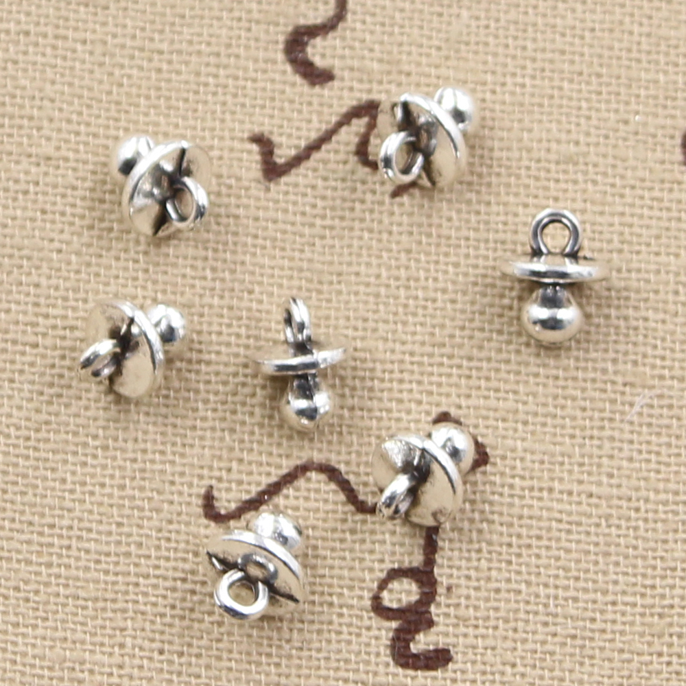 20pcs Charms baby pacifier binky teether 9x7x6mm Antique pendant fit,Vintage Tibetan Silver,DIY bracelet necklace