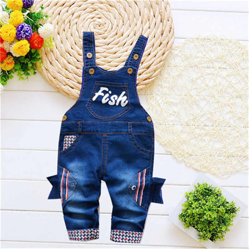 c9581b257c5 Detail Feedback Questions about BibiCola New Arrived Baby Boys Girls Jeans  Overalls Toddler Kids Cartoon Fish Pocket Denim Rompers Bebe Jumpsuit For  Baby on ...