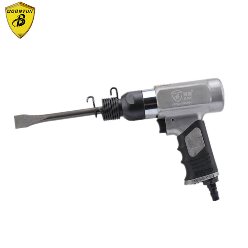 Borntun Pneumatic Air Shovel Gun Air Rust Remover Chisel Pickax Pickaxe Remove Metal Rust Burrs Welds Paint Scrap Removing Tools 190 pneumatic shovel air chisel rust remover wind shovel pneumatic pick brake pad derusting tools with 5 head carton package