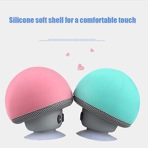 Image 3 - 만화 버섯 무선 블루투스 스피커 방수 빨판 야외 휴대용 전화 브래킷 화웨이 xiaomi 아이폰 삼성