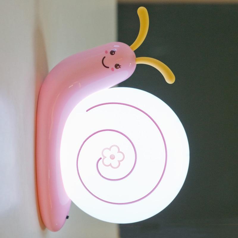 2018 creativo lindo LED caracol lámpara de pared para niños niños - Luces nocturnas - foto 3