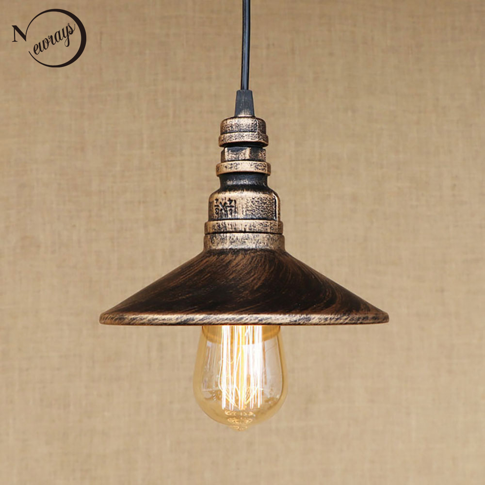 4 color Loft industrial Iron water Pipe Vintage pendant lamp cord e27 antique rust lights for personalized cafe bar dining room