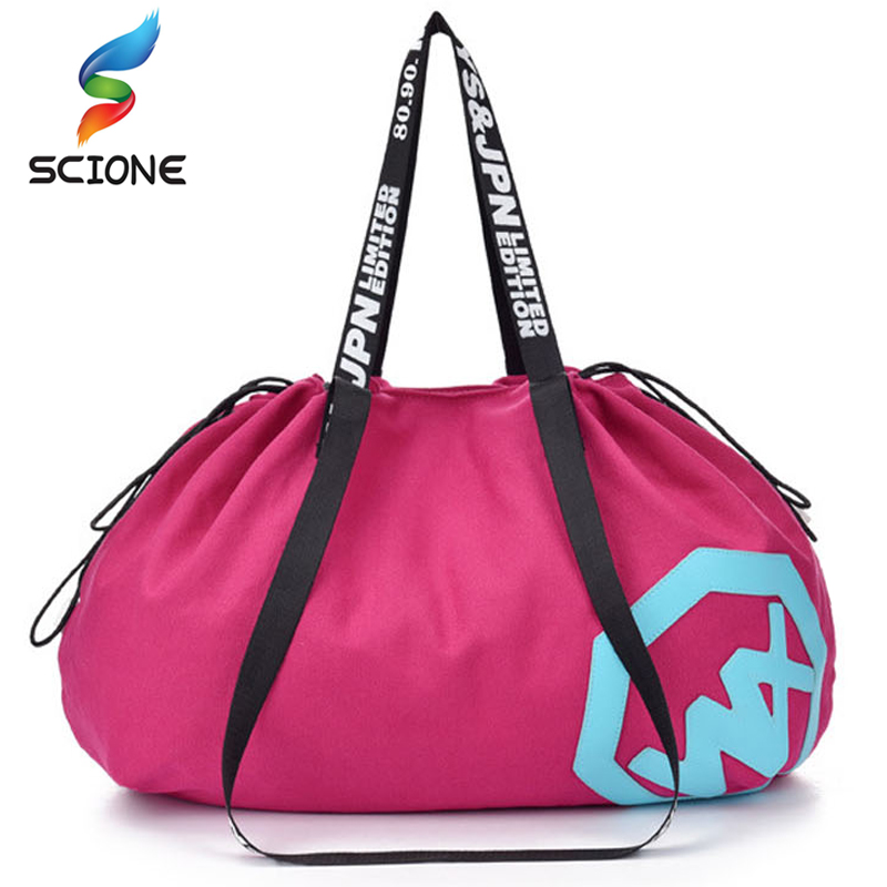 Large Big Capacity Holdall Outdoor Travel Handbag Canvas Gym Bag Yoga Mat Bag Drawstring Sports Bags Sporting Women Fitness Bag canvas elephant yoga mat bag large capacity gym bag sports handbag fitness dance gymnastics pilates athletes exercise mat bags