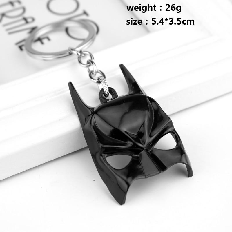10pcs Bat Man Keyring Batman Mask Keychain The Avengers Super Hero Key Chain Movie Character Keyring Holder Accessories