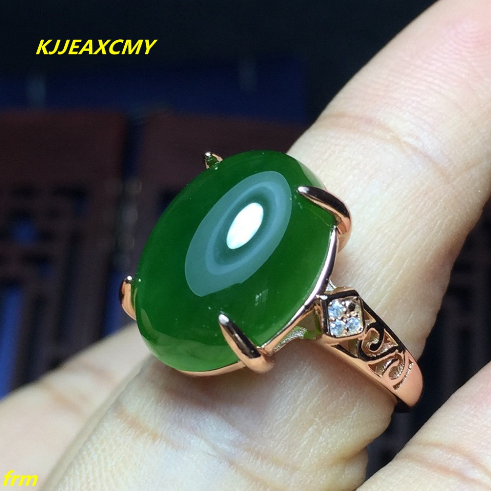 KJJEAXCMY Fine jewelry 925 sterling silver inlaid natural Hetian Jasper men and women models ring kjjeaxcmy fine jewelry sterling silver 925 sterling silver natural jasper ladies bracelet inlaid jewelry natural jewelry