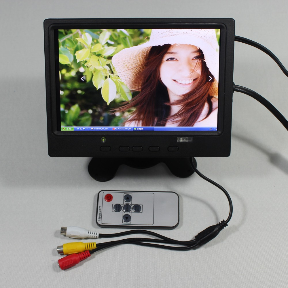 7inch Lcd monitor 1280*800 with HDMI+VGA+2AV+Reversing+US Power supply for bus monitor VS-T0702URB-V1 aputure vs 2 finehd lcd field digital monitor 7inch v screen vs 2 finehd for dslr camcorder optimized peak monitoring