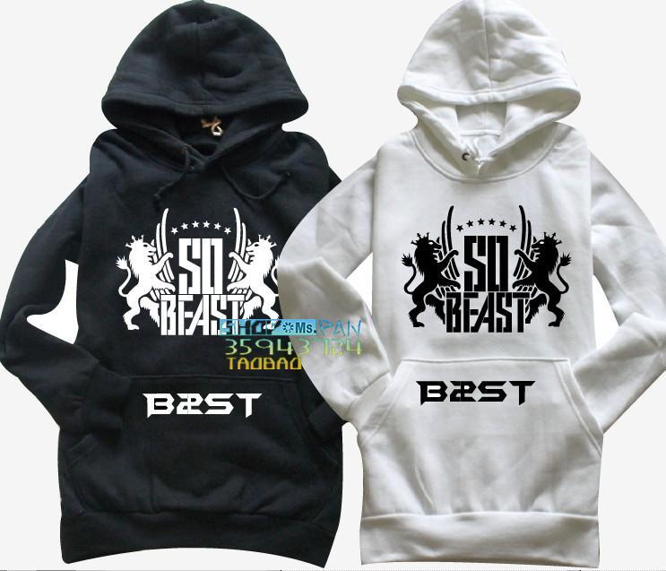 2017 kpop Bête B2st sudadera bestia sudadera bête B2st con capucha bestia con una camiseta de la capilla Sweat Shirts