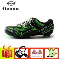 Tiebao sapatos de ciclismo profissionais  sapatos de sapato para uso em bicicleta  autotravamento  respirável  para atletismo e corrida