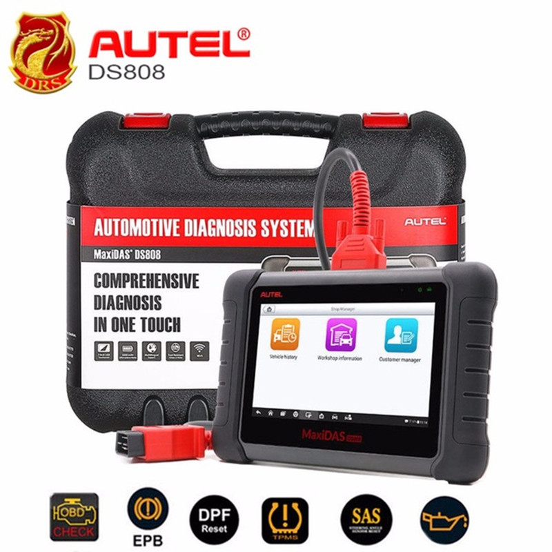 Autel MaxiDAS DS808 OBD2 Diagnostic Scanner Full System Automotive Diagnostic Tool with Key Programming ECU coding Free Update