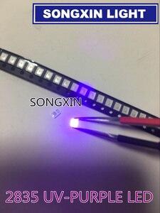 Image 3 - 4000 stücke Diode 2835 3528 SMD UV LED Lila Lampe Perle 395   410nm Uv Licht emittierende Dioden Ultra violet SMT LED Wulst Lampe