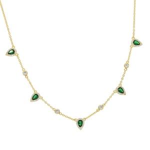 Image 2 - בוהמיה 2018 זהב צבע ירוק אבן שרשרת הצהרת שרשרת קולר תכשיטים לנשים אלגנטיות מתנה אופנתי תכשיטים