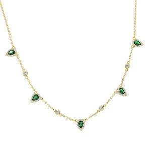 Image 2 - Bohemia 2018 altın rengi yeşil taş bildirimi zincir kolye gerdanlık moda takı kadınlar için elegance hediye şık takı