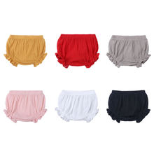 6-24Months Summer Baby Shorts Cotton Linen Baby Girl Shorts Solid Color Newborn Bloomers Fashion Loose Toddler Boys Bread Pants(China)