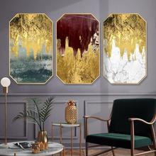 Abstract style Metal Industry Home decoration painting customize Hotel restaurant mural Creative octagonal living room paintings