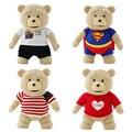 [ 7 цветов ] 40 см прекрасный медведь куклы красный одежда супермэн одежда ткань в полоску наполненный плюш игрушки дети влюбленность игрушки NT057