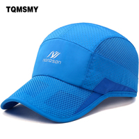 TQMSMY 2017 Hiking Hat Unisex New Outdoor Summer Baseball Cap Men Or Women Mesh Caps Quick