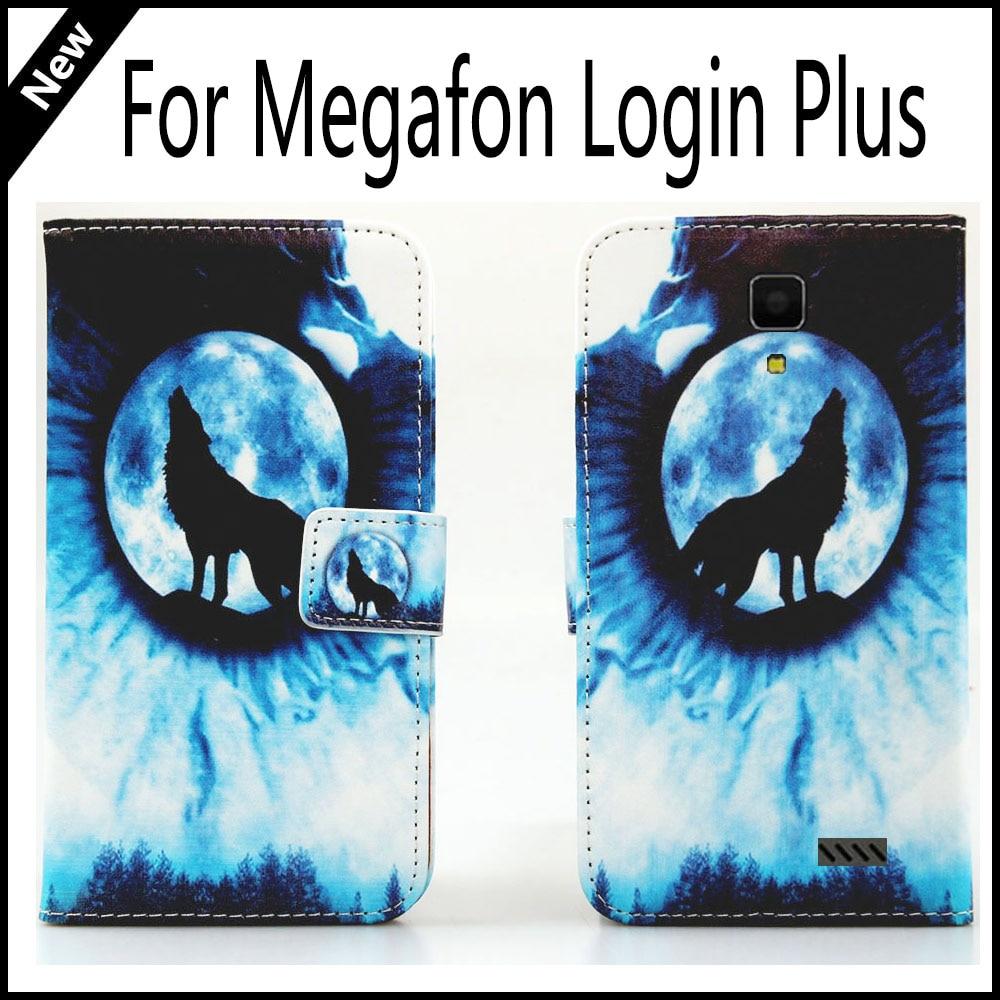 For Megafon Login Plus Wallet Card Slots Book Style Flip PU