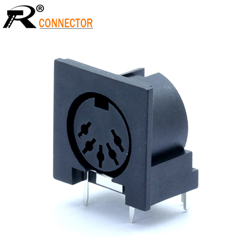 1pc Circular <font><b>DIN</b></font> <font><b>Jack</b></font> <font><b>Female</b></font> S Terminal 5 pin PCB Mount Connector <font><b>5PIN</b></font> <font><b>DIN</b></font> Socket High quality image