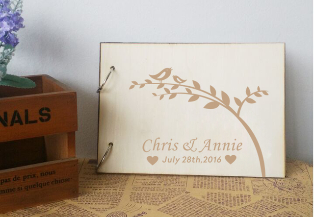 Personalized Wedding Guest Book,Rustic Wedding Guestbook Album - guest books wedding
