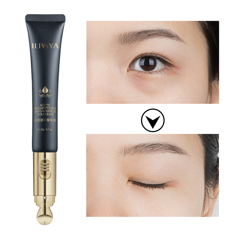 ILISYA Six peptide Electric Eye Cream Massage For Anti Weinkle Anti Puffiness Eye Bags Dark Circles Remove Eye Care Tools