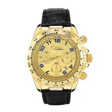 Gold Cass Watch Wealthstar Mens Watches Genuine Leather Luxury Mens Brand Military Wristwatches Men Quartz Sports