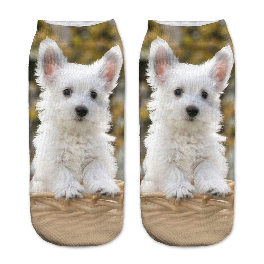 <font><b>Unisex</b></font> Cute Dog Low Cut Ankle <font><b>Socks</b></font> Women Casual Charactor <font><b>Socks</b></font> 3D Owl <font><b>Animal</b></font> Pattern Cute Printed <font><b>Socks</b></font> Women Cotton <font><b>Sock</b></font> image