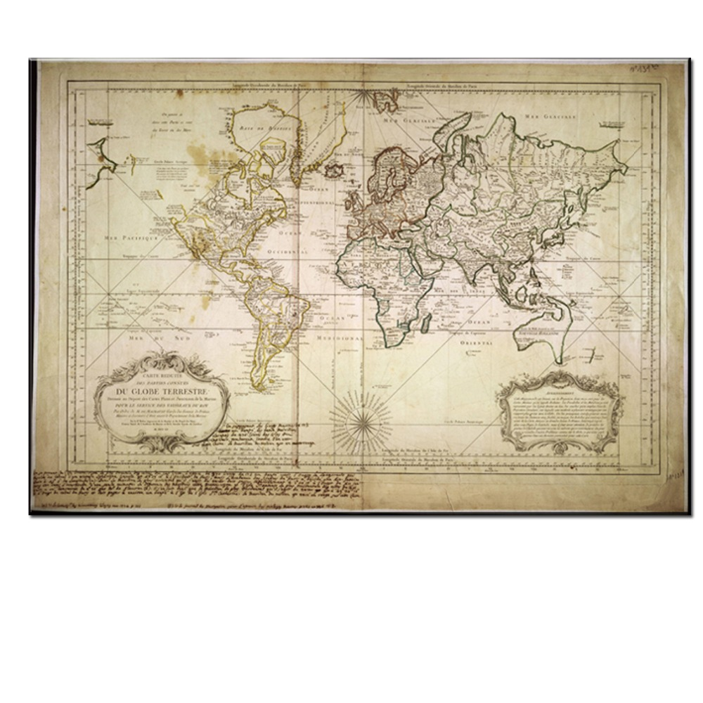 Xll212 vintage style retro world map poster home decoration wall art xll212 vintage style retro world map poster home decoration wall art map ancient picture prints canvas picture no framed in painting calligraphy from home gumiabroncs Choice Image