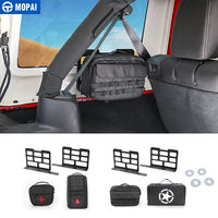 MOPAI Car Trunk Rack Luggage Carrier Storage Rack Camping Mat Storage Bag Tool kit for Jeep Wrangler JK JL 2007 2018 Car Styling