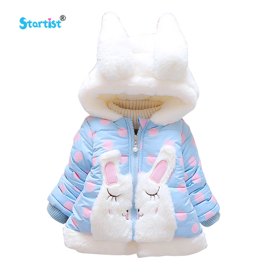 Startist Baby Jackets Coat Autumn Winter Cute Rabbit Infant Newborn Coats &Outwear Thick Warm Toddler Baby Girl Clothes Costume