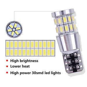 Image 3 - 1pcs T10 W5W LED Bulb 194 168 Canbus No error White Light 3014 30 SMD For Car Interior Dome License Plate Light Lamp 12V