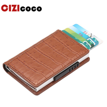 Cizicoco 2019 New Credit Card Holders Business Men Fashion RFID Cases Automatical Aluminium Bank Wallets