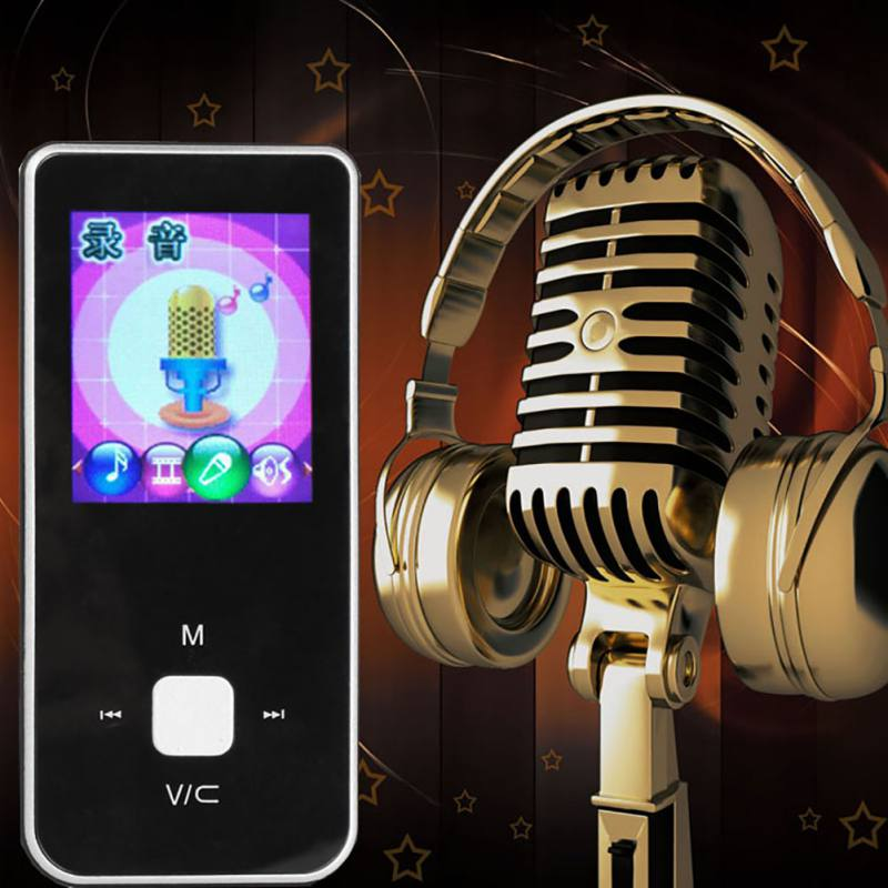 Portable 1.8 Inch Mini MP3 Music Player MP3 Player Button Ultra Thin MP3 Music Player Support TF Card FM Radio E-book