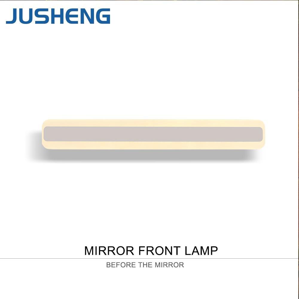 JUSHENG Square LED Bathroom Lights Indoor top mirror LED Wall lamps Acylic Vintage 40cm / 50cm long 100-240V AC