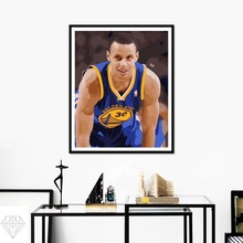 DIY oil painting By Numbers Dell curry smile ball Handpainted Canvas Painting Home Wall Art Picture For Living Room Gift(China)