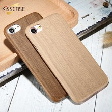 KISSCASE Soft Wood Case For iPhone 6 6s 7 8 Plus Ultra Thin Bamboo Cover For iPhone XS Max XR X 7 8 6s 6 Plus 5s SE Cases Funda